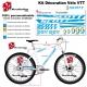 Sticker cadre complet Scott VTT XXL