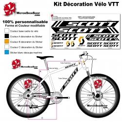 Sticker cadre complet Scott VTT XXL Droit