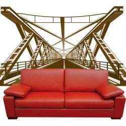 Décoration Géante pont métalique 3D Vecteur