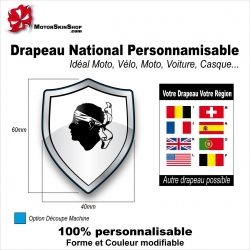 Sticker Drapeau national Corse
