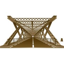 Décoration pont metallique 3D vecteur, trompe l'œil