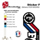 Sticker Fox Racing Shox Heritage 2015 France