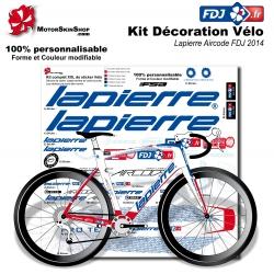 Sticker cadre FDJ Lapierre Aircode 2014 replica