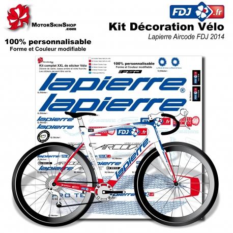 Sticker cadre Lapierre Aircode FDJ 2014