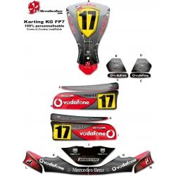 Kit déco Karting KG FP7 Mclaren F1
