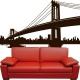 Sticker Pont New York trompe l'œil grand format