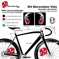 Sticker Mascotte Sprinter Vélo Cycliste