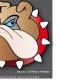 Planche Sticker Casque BullDog