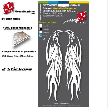 Planche Sticker Casque Aigle