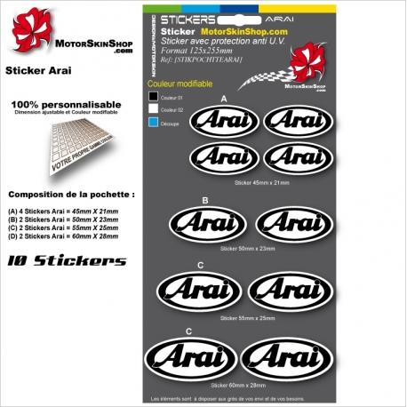 Planche Sticker casque Arai