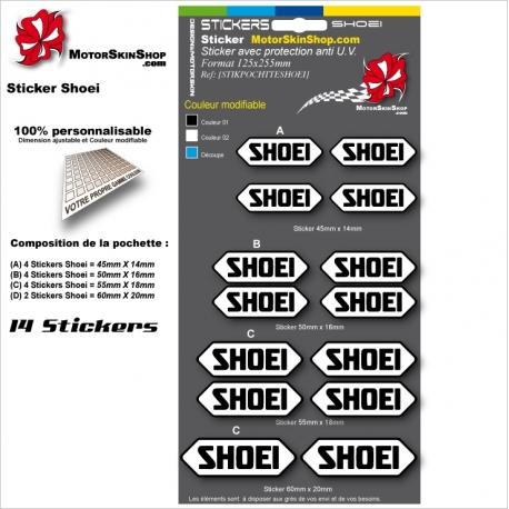 Planche Sticker casque Shoei