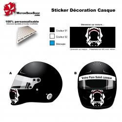 Sticker casque Gorille décoration mentonnière