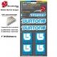 Planche Sticker Burton casque