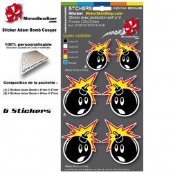 Planche Sticker Adam Bomb casque