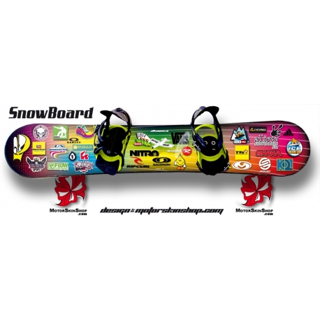 Sticker SnowBoard Sticker personnalisable