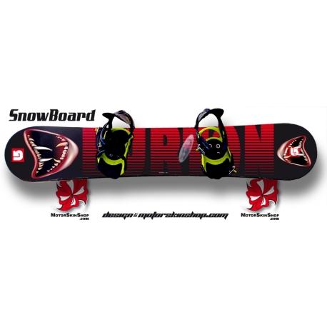 Sticker SnowBoard Burton Monstre