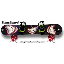 Sticker SnowBoard Sourire personnalisable