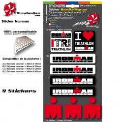 Planche Sticker Ironman casque