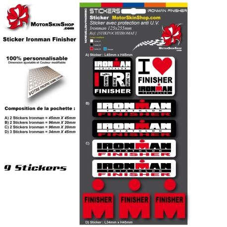 Planche Sticker Iroman Finisher casque