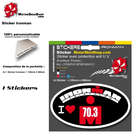 Planche Sticker Iroman Voiture