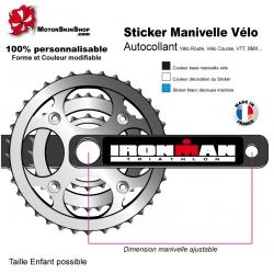 Sticker Manivelle Vélo Ironman