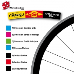 Sticker jante Mavic SSC Cosmic SL ROUTE