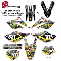 Kit déco 50 Beta RR 06-09 Patchwork Sticker 50CC à boite