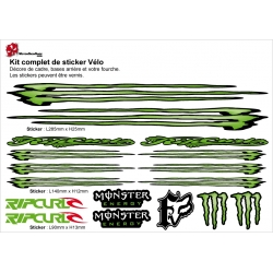Sticker cadre vélo Kit monster Energy Rip Crurl