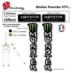 Sticker fourche Monster Energy VTT