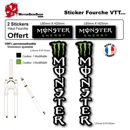 Sticker fourche Monster Energy VTT