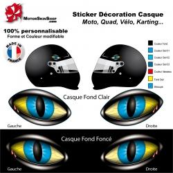 Sticker oeil Monstre Casque aérographe