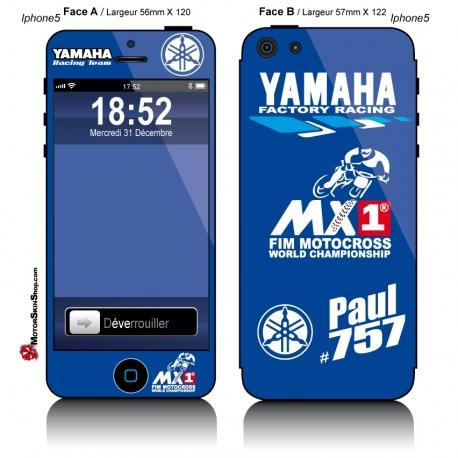 Sticker iPhone 5 Yamaha Personnalisable