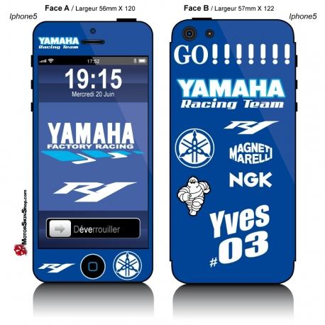 Sticker iPhone 5 R1 Yamaha Personnalisable