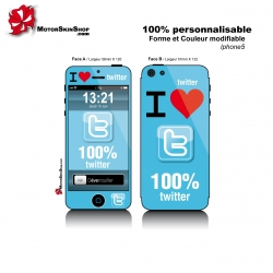 Sticker iPhone 5 Twitter