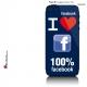 Sticker iPhone 5 Facebook