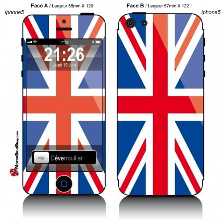 Sticker iPhone 5 Drapeau Anglais