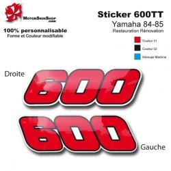 Sticker 600 TT Moto Yamaha 84-85