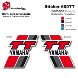 Sticker 600 TT Moto Yamaha 83-85