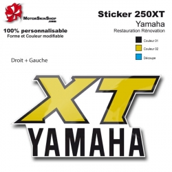 Sticker 250 XT Moto Yamaha Americaine