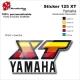 Sticker 125 XT Moto Yamaha