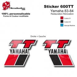 Sticker 600 TT Moto Yamaha 83-84