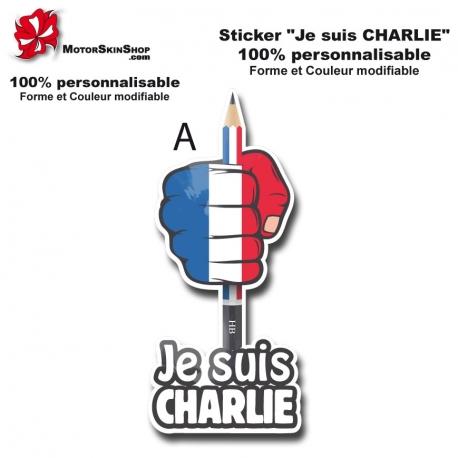 sticker Je suis Charlie Soutient Attentat Drapeau