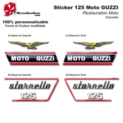 Sticker 125 Moto GUZZI Starnello