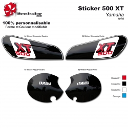 Sticker 500 XT 79 Yamaha restauration