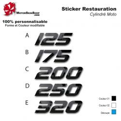 Sticker Cylindrée TY Moto restauration et rénovation