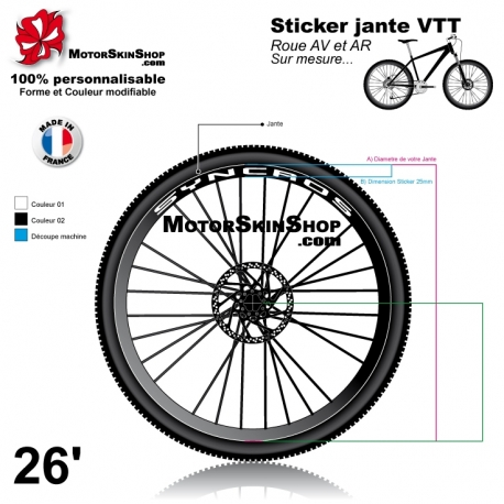 Sticker jante Syncros VTT texte