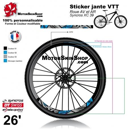 Sticker jante Syncros XC 39