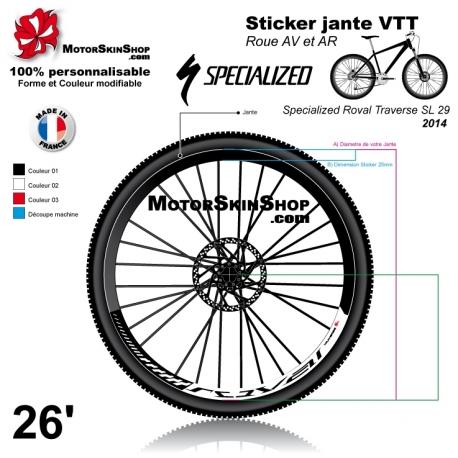 Sticker jante Specialized Roval Traverse SL 2014 VTT