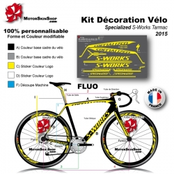 Sticker cadre Specialized S works Tarmac 2015