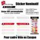 Sticker nominatif Vélo et Casque Oblique personnalisable